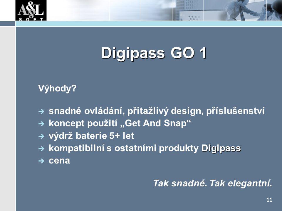 Digipass GO 1 Galerie Tak snadné. Tak elegantní.