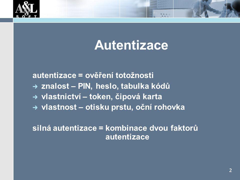 Smysl autentizace Infrastruktura aplikací a sítí bývá velmi dobře zabezpečená: firewall. SIG (Secure Internet Gateway)