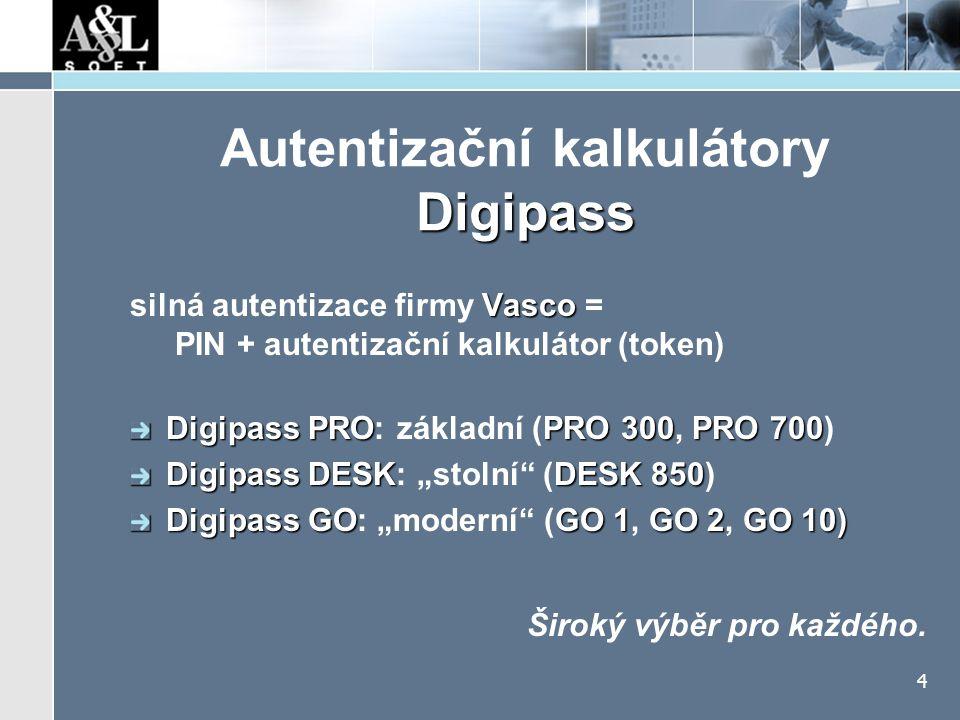 """Digipass PRO autentizace, """"podpis zprávy široké možnosti přizpůsobení"""