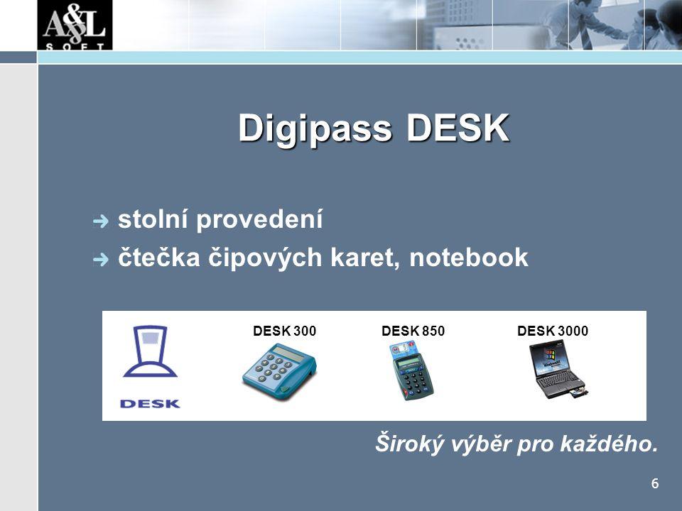 Digipass GO mobilita, jednoduchost, design SMART karty, SIM karty
