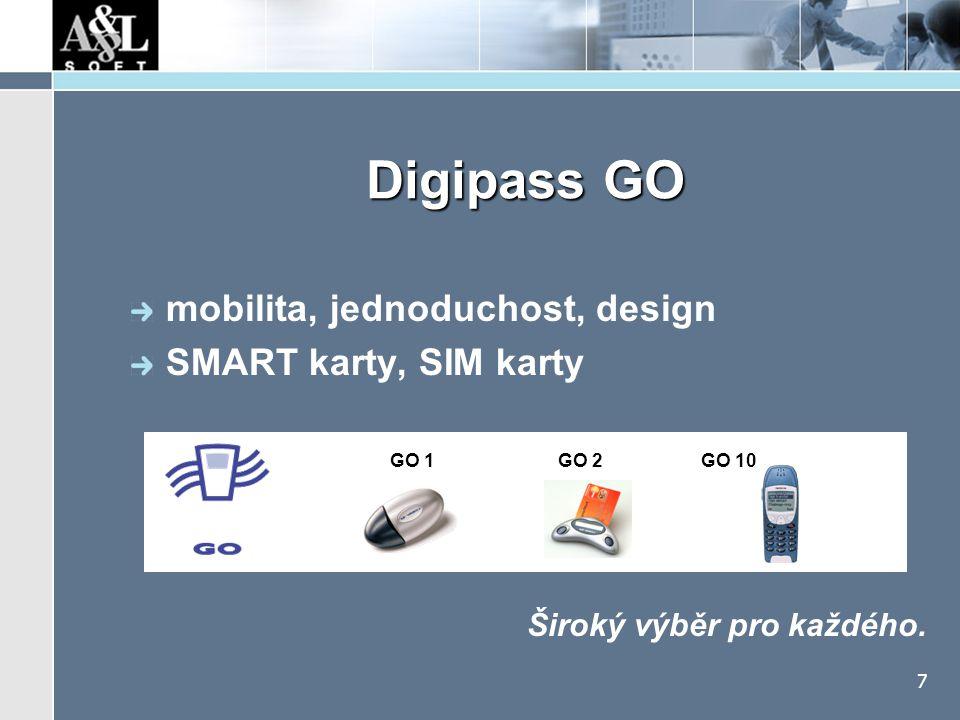 Elegantní autentizace Digipass GO 1