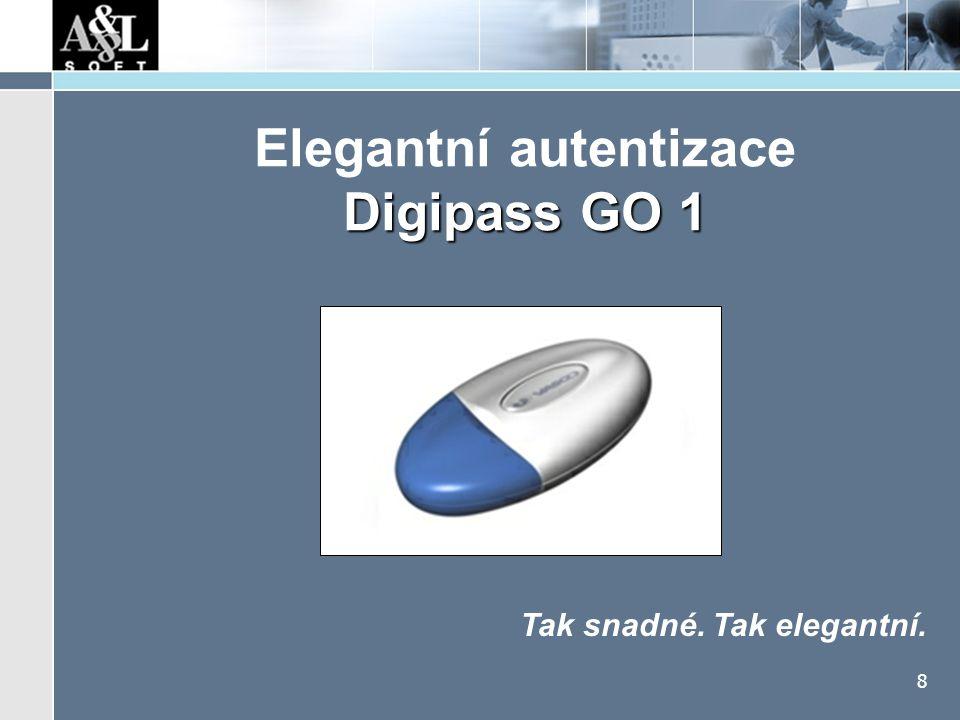 Digipass GO 1 Co umí Jak funguje jednorázová hesla (časově závislá)