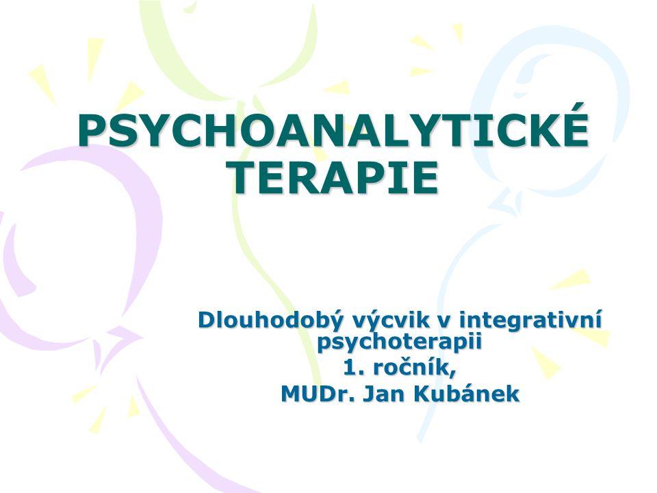 PSYCHOANALYTICKÉ TERAPIE