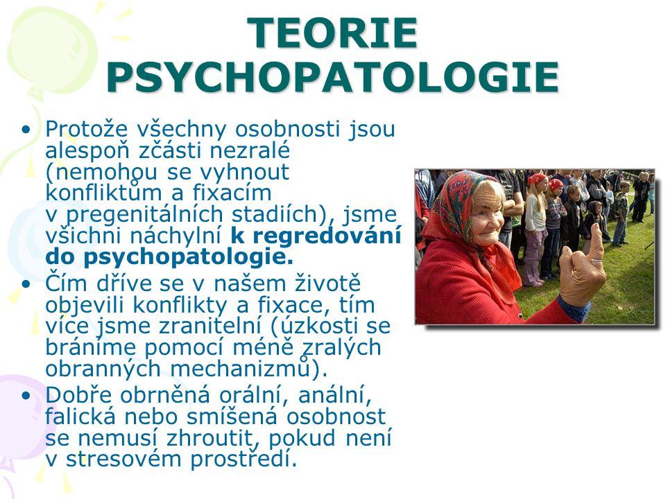 TEORIE PSYCHOPATOLOGIE