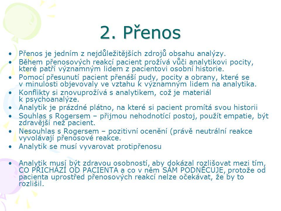 2. Přenos Přenos je jedním z nejdůležitějších zdrojů obsahu analýzy.