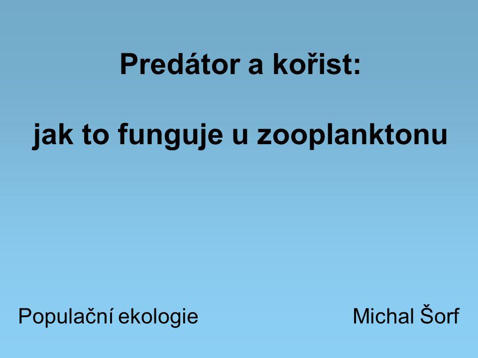 Predátor a kořist: jak to funguje u zooplanktonu