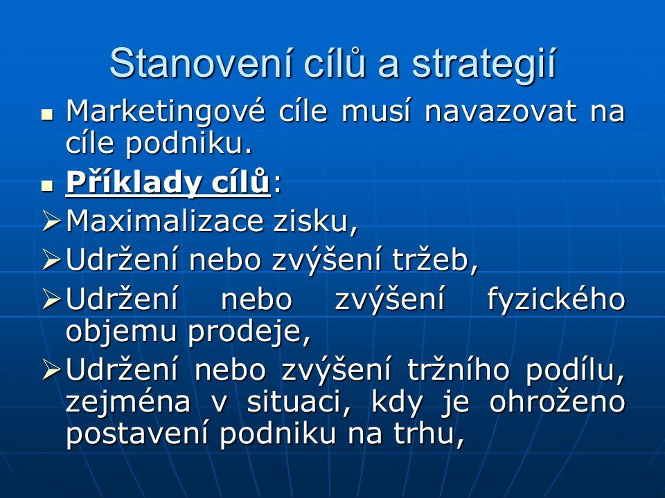 Stanovení cílů a strategií
