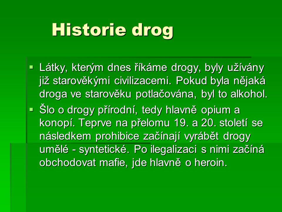 Historie drog