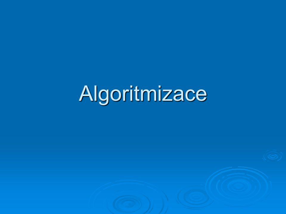 Algoritmizace