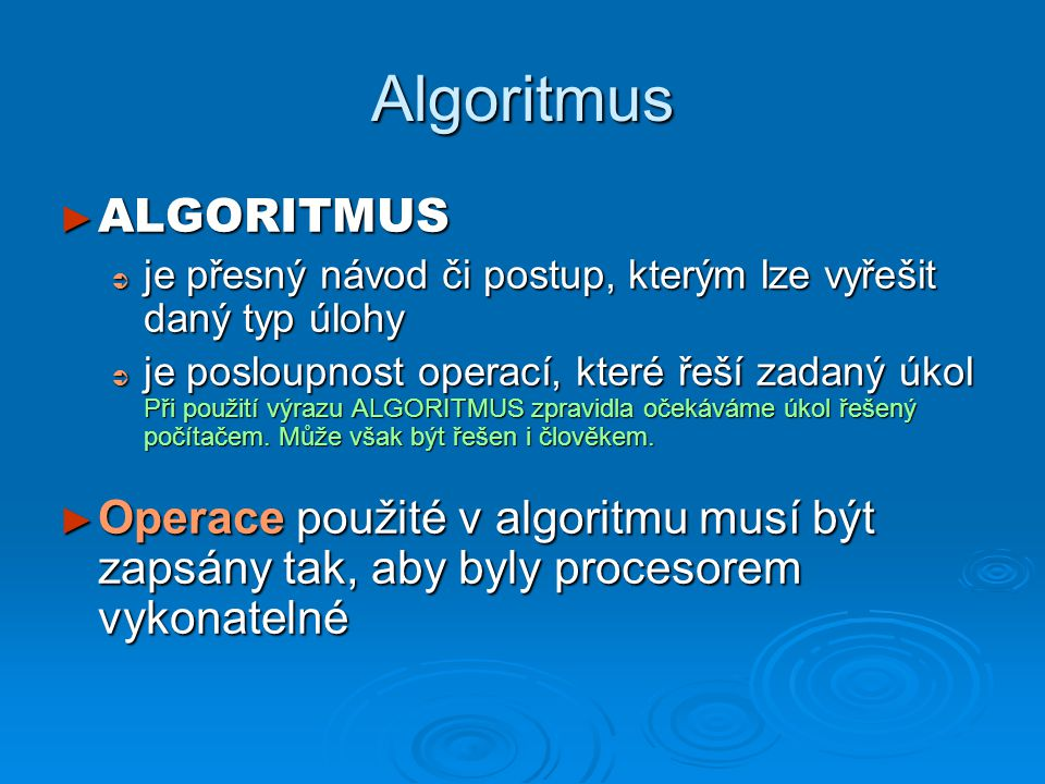 Algoritmus ALGORITMUS