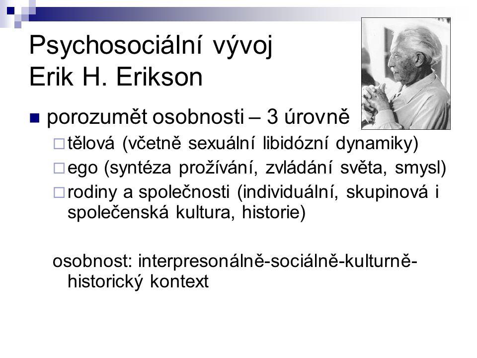 Psychosociální vývoj Erik H. Erikson