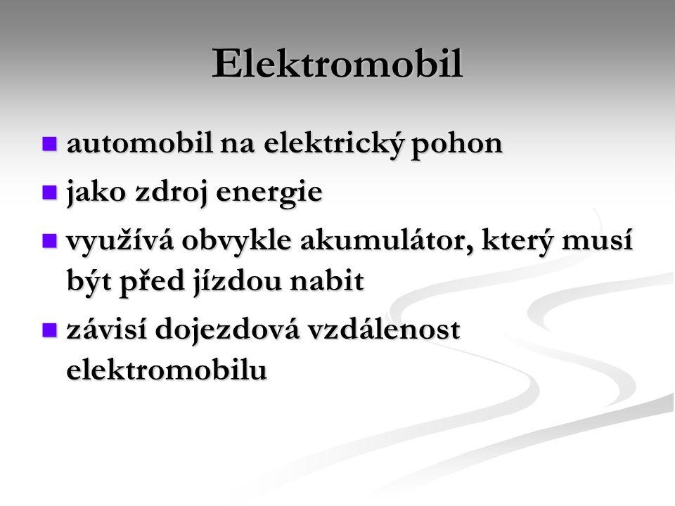 Elektromobil automobil na elektrický pohon jako zdroj energie