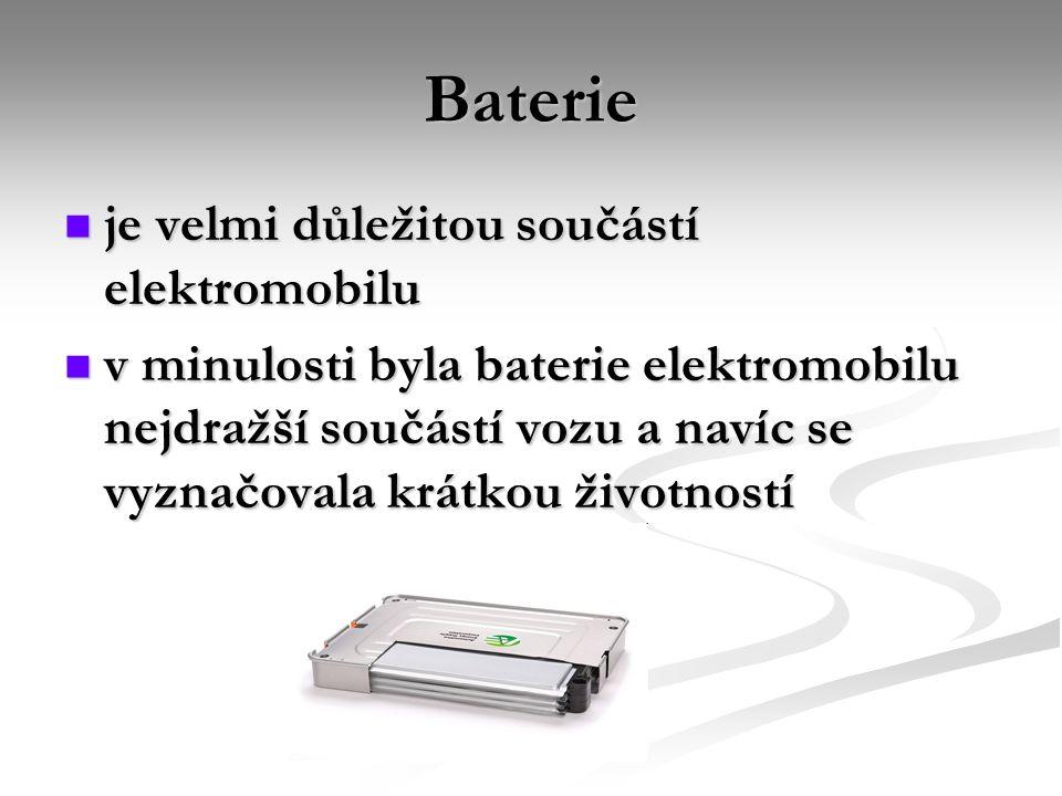 Baterie je velmi důležitou součástí elektromobilu