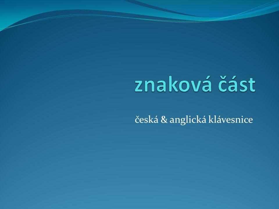 česká & anglická klávesnice
