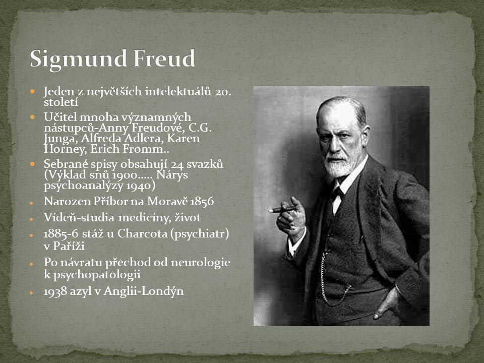 Sigmund Freud Jeden z největších intelektuálů 20. století