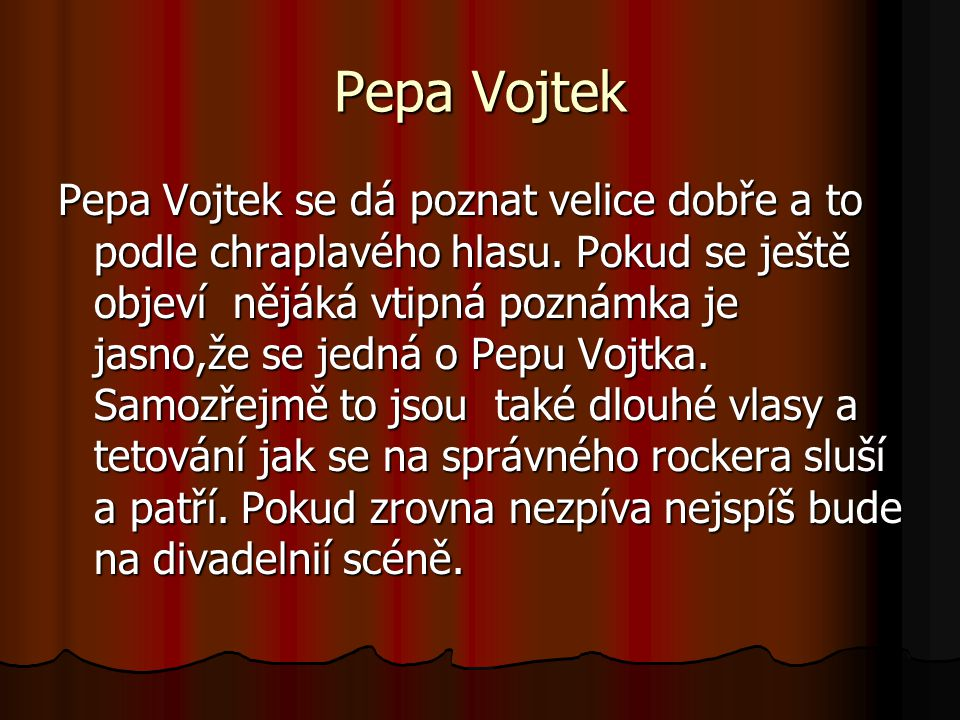 Pepa Vojtek