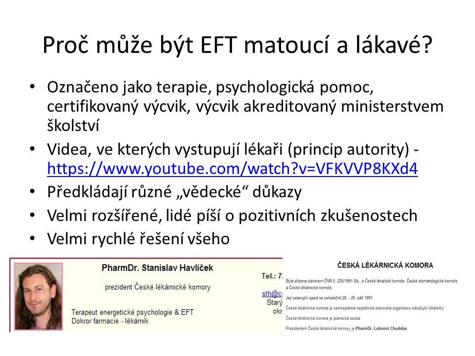 Proč může být EFT matoucí a lákavé