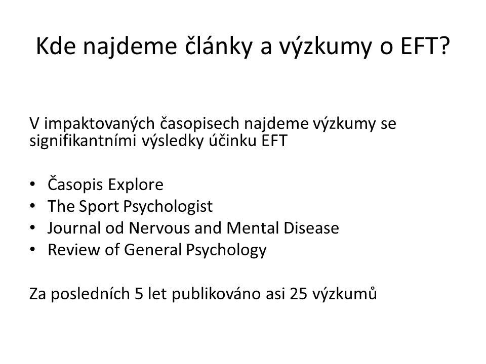 Kde najdeme články a výzkumy o EFT