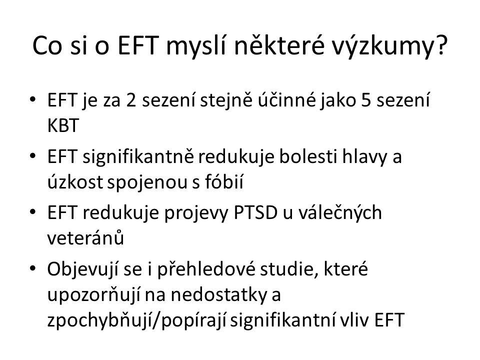 Co si o EFT myslí některé výzkumy