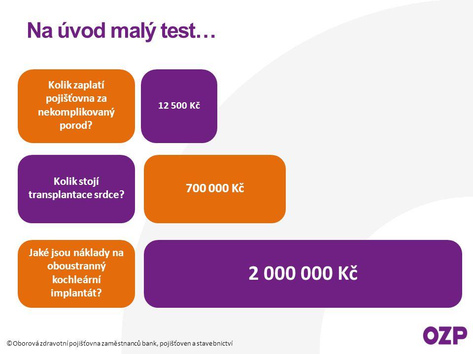 Na úvod malý test… Kolik zaplatí pojišťovna za nekomplikovaný porod 12 500 Kč. Kolik stojí transplantace srdce