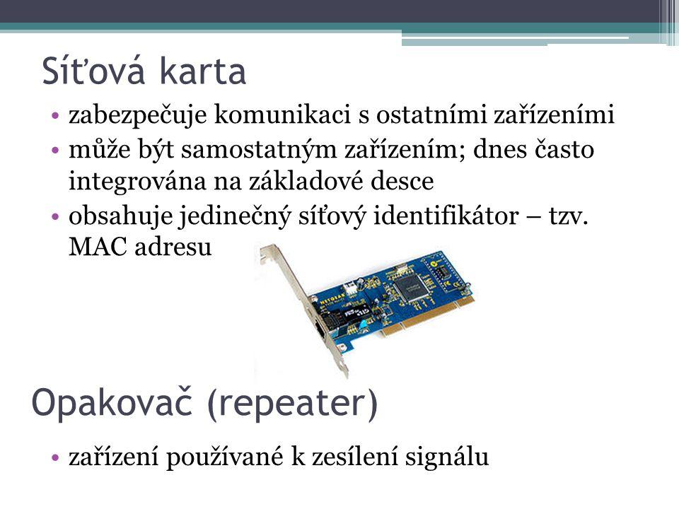 Síťová karta Opakovač (repeater)