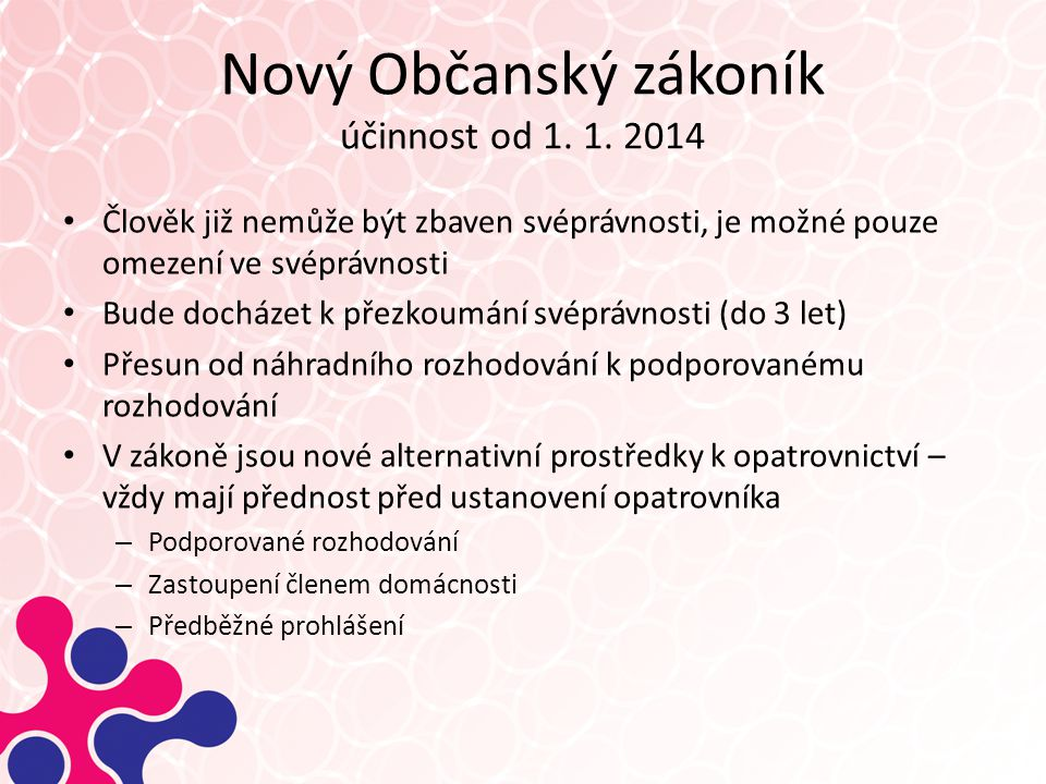 Nový Občanský zákoník účinnost od 1. 1. 2014