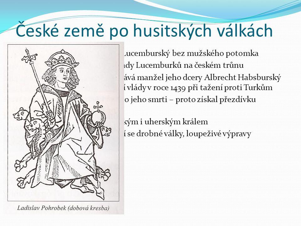 České země po husitských válkách