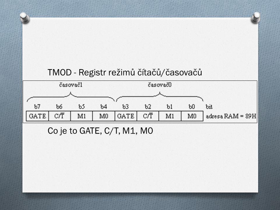 TMOD - Registr režimů čítačů/časovačů