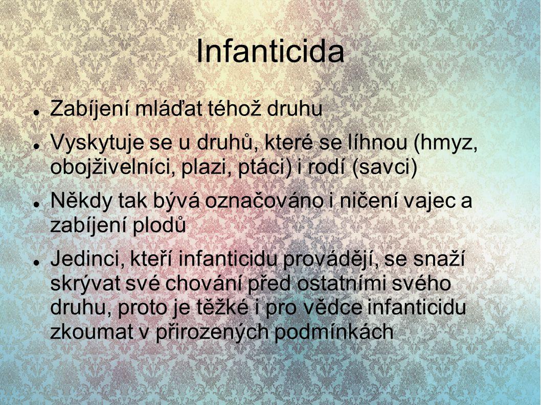 Infanticida Zabíjení mláďat téhož druhu