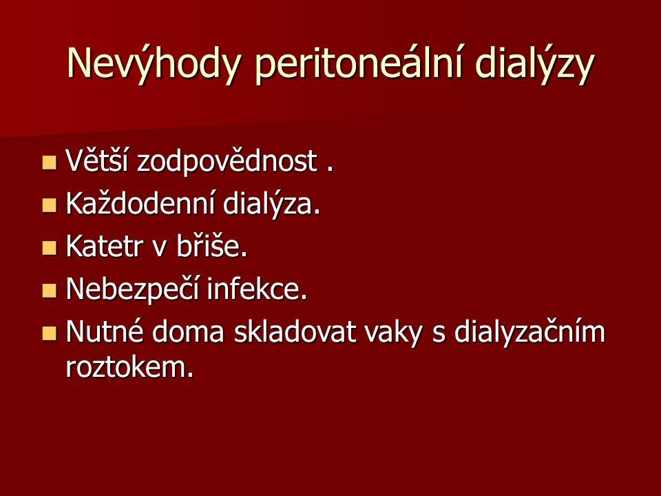 Nevýhody peritoneální dialýzy