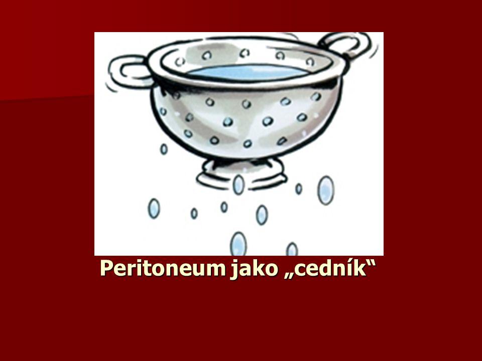 "Peritoneum jako ""cedník"