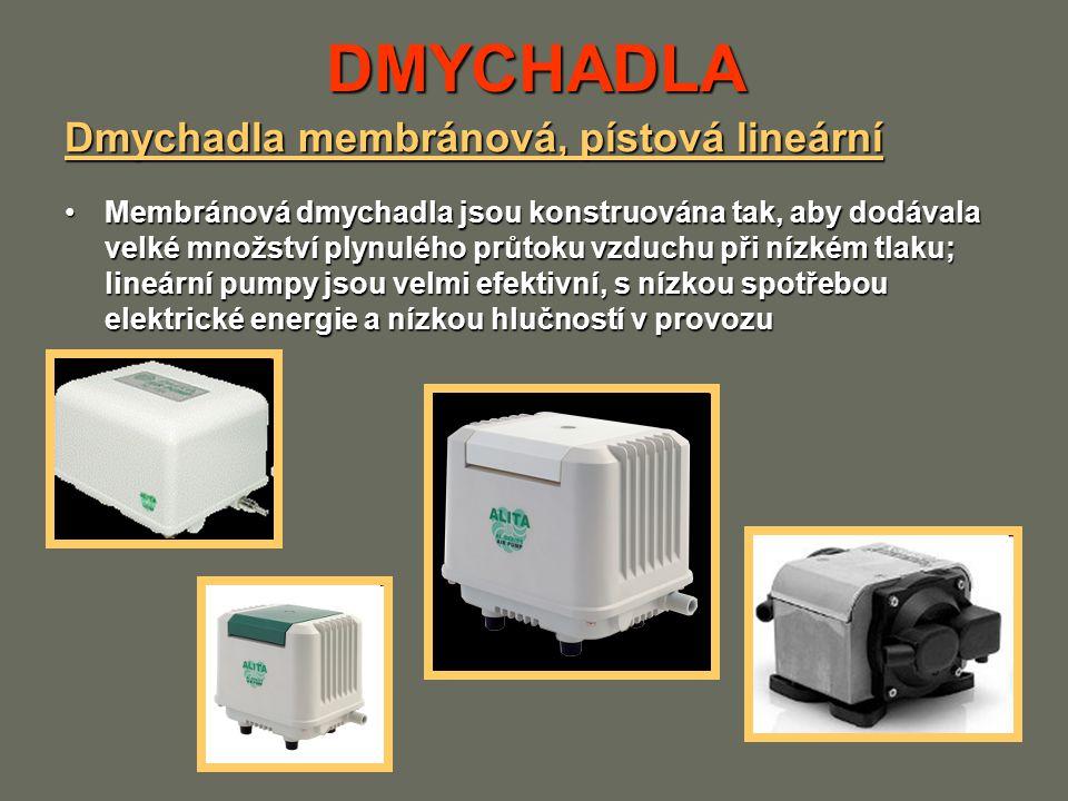 DMYCHADLA Dmychadla membránová, pístová lineární