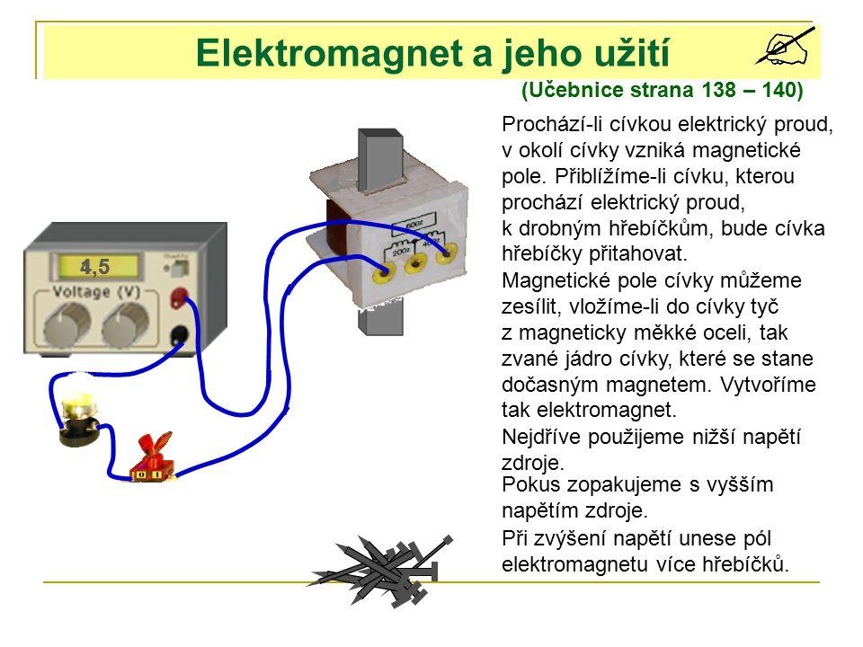 Elektromagnet a jeho užití