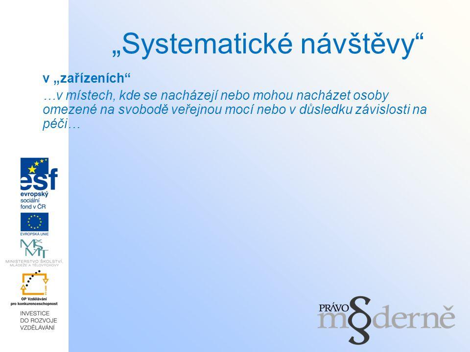 """""""Systematické návštěvy"""
