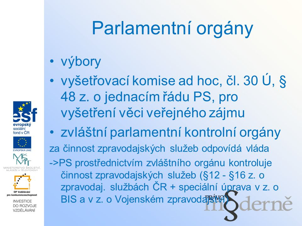 Parlamentní orgány výbory