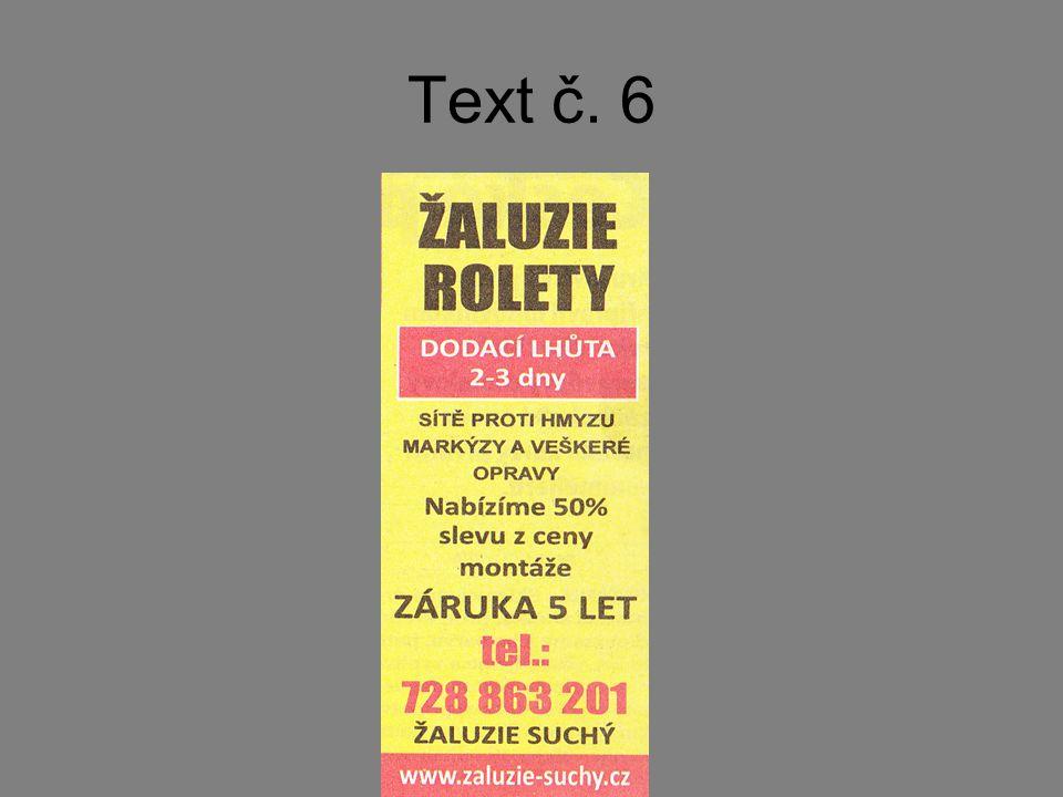 Text č. 6