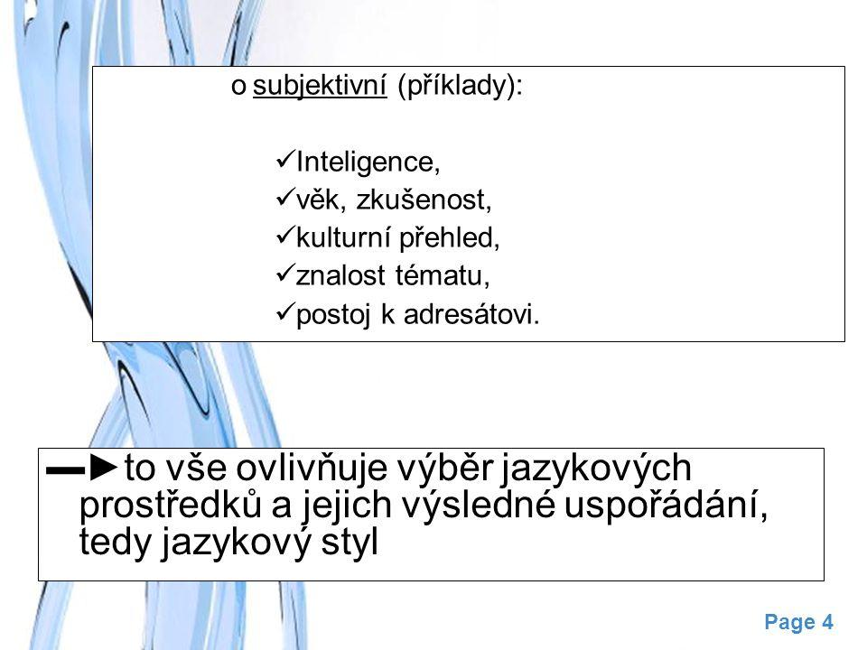 subjektivní (příklady):