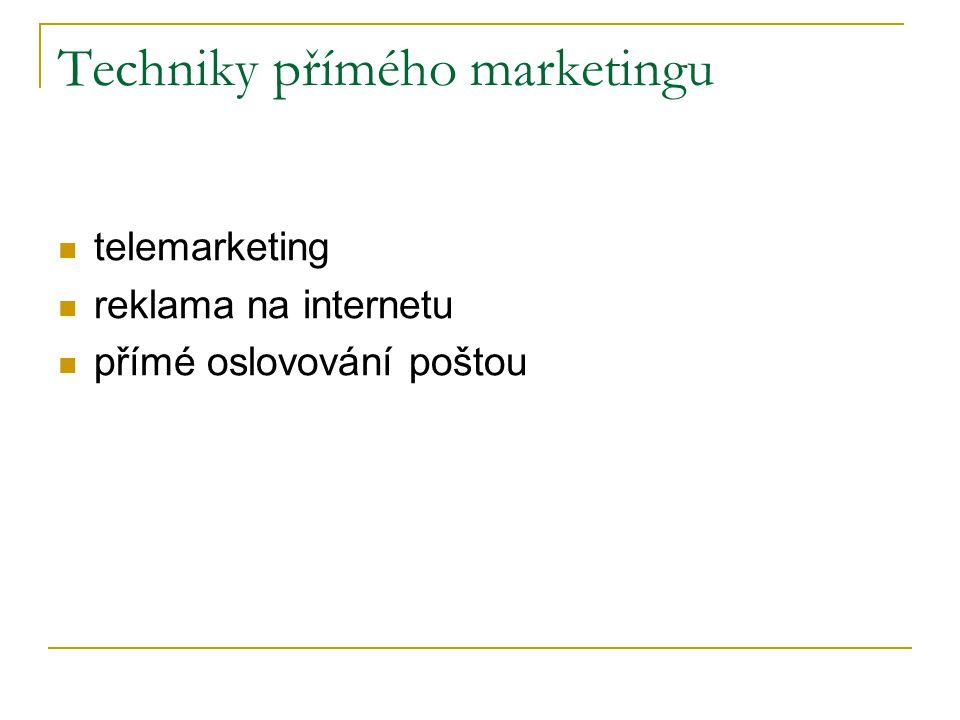 Techniky přímého marketingu