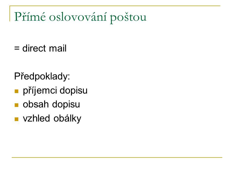 Přímé oslovování poštou