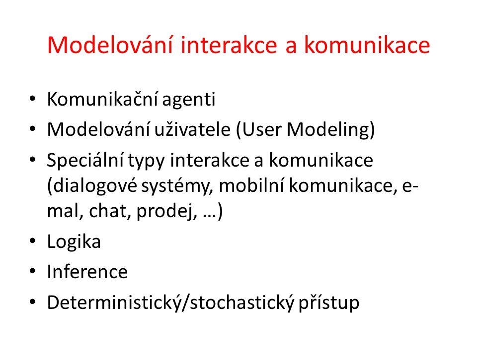 Modelování interakce a komunikace