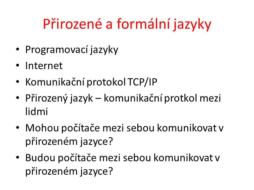 Přirozené a formální jazyky