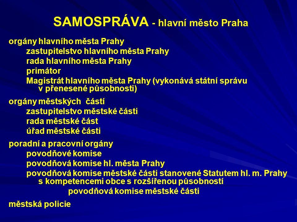 SAMOSPRÁVA - hlavní město Praha