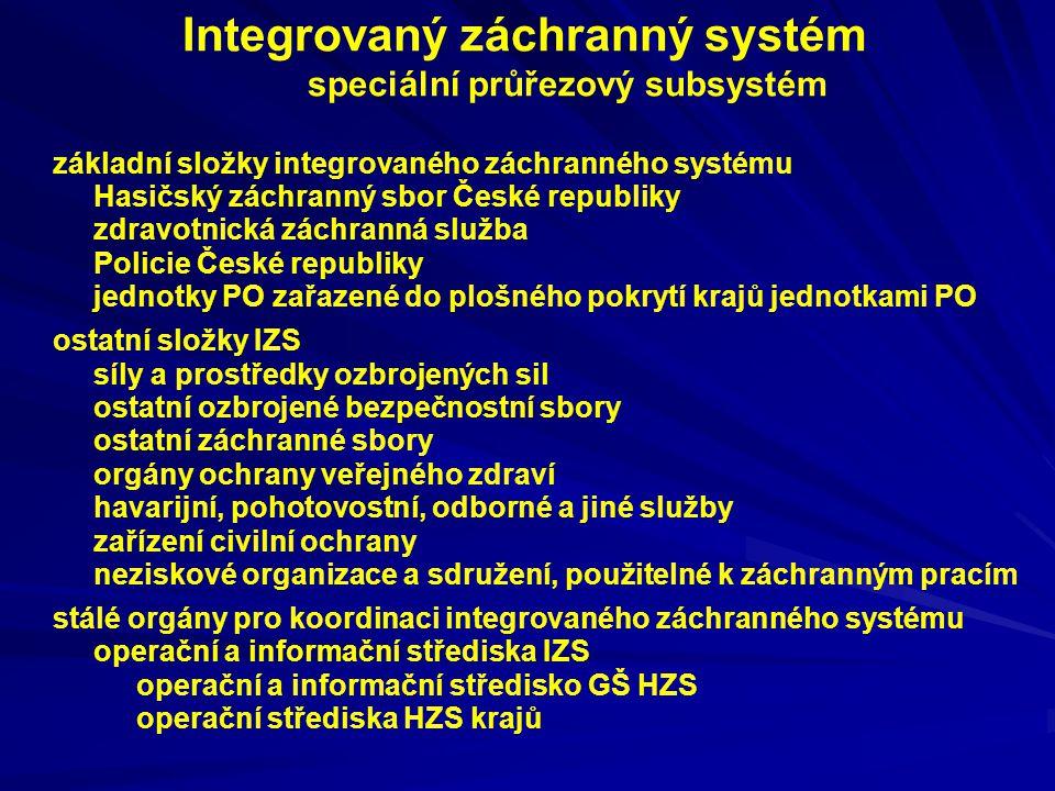Integrovaný záchranný systém speciální průřezový subsystém