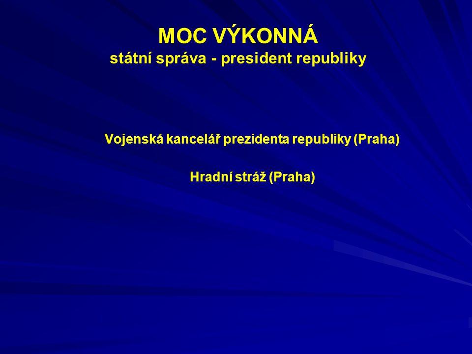 MOC VÝKONNÁ státní správa - president republiky