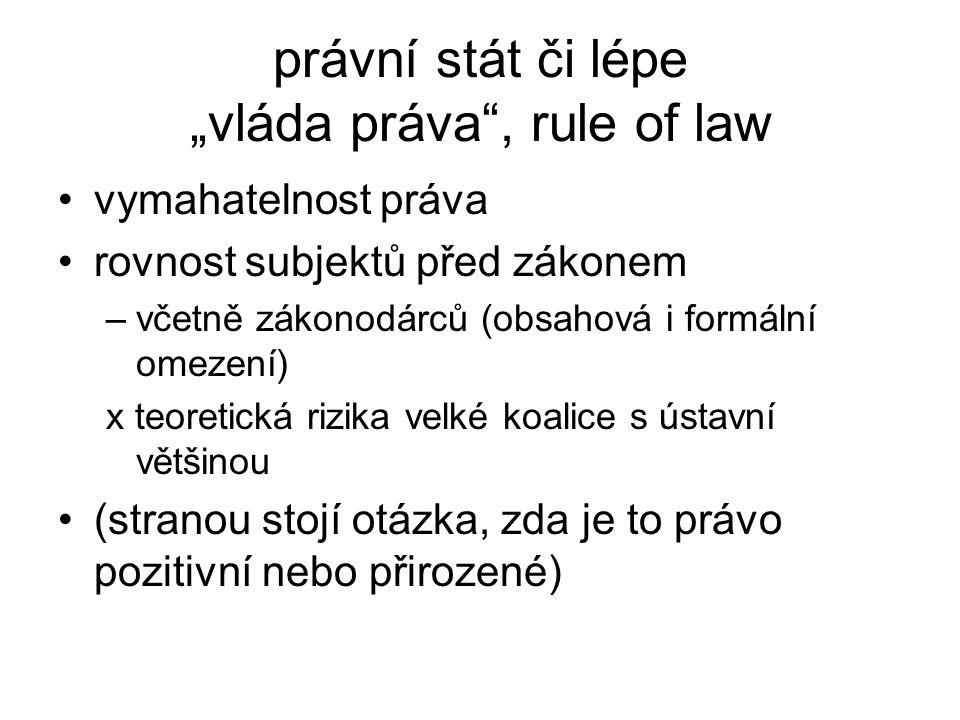 """právní stát či lépe """"vláda práva , rule of law"""