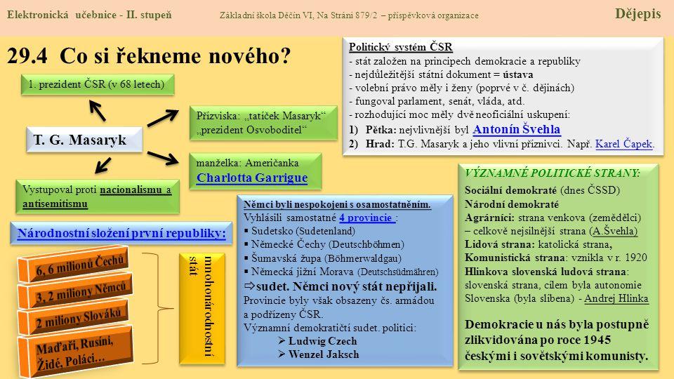 29.4 Co si řekneme nového T. G. Masaryk