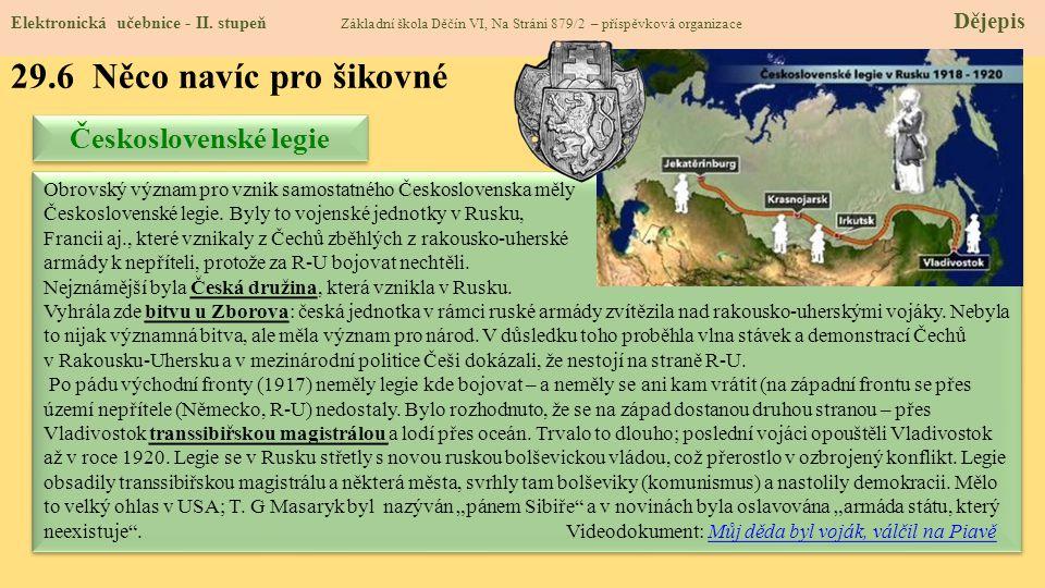 29.6 Něco navíc pro šikovné Československé legie