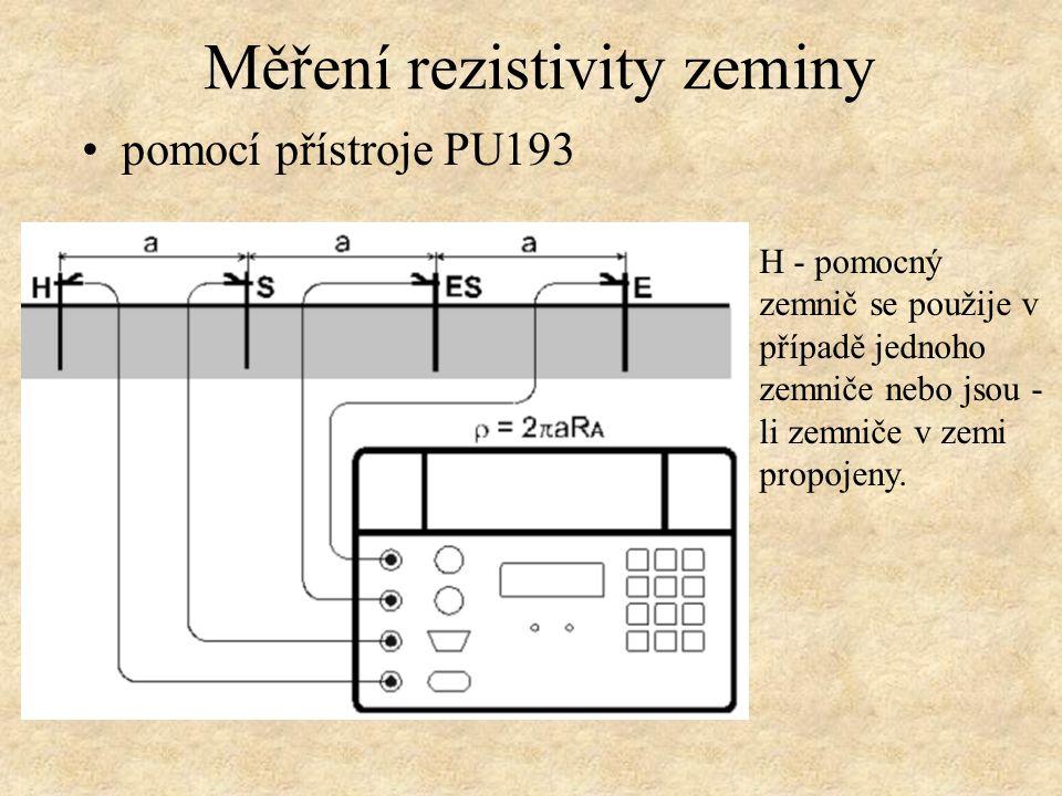 Měření rezistivity zeminy