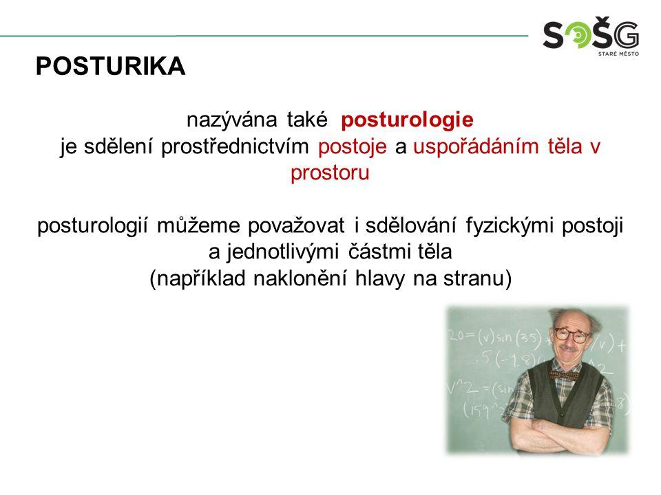 posturika nazývána také posturologie