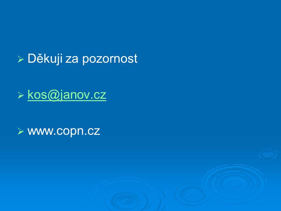 Děkuji za pozornost kos@janov.cz www.copn.cz